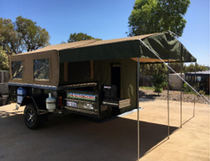 Offroad soft floor camper trailers
