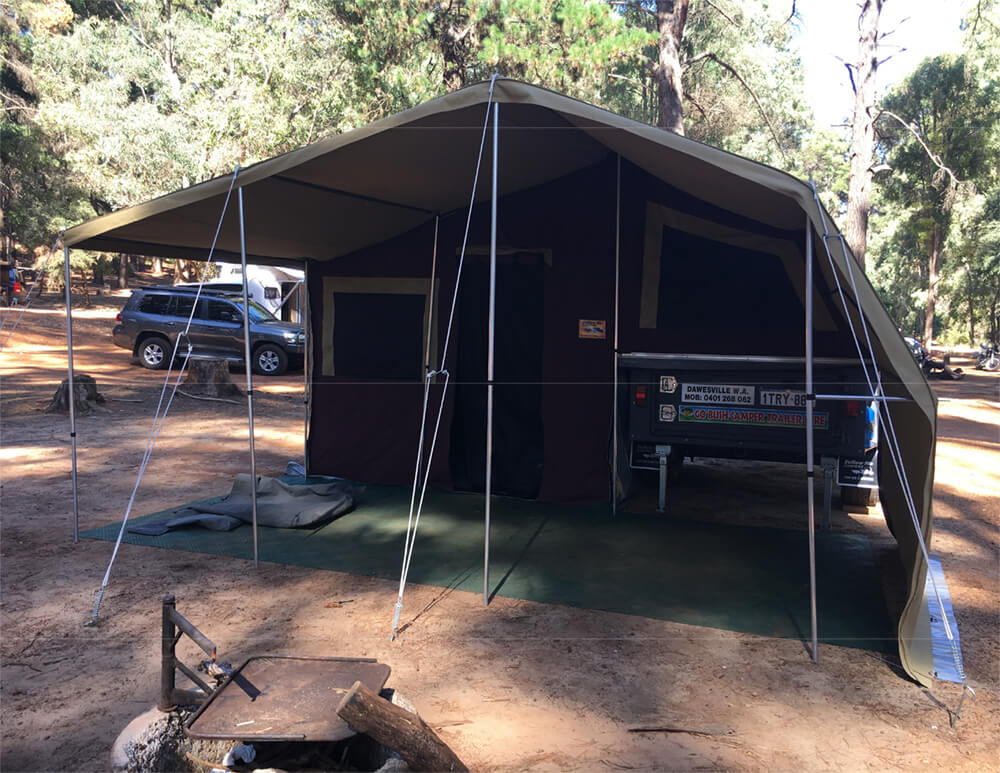 Offroad soft floor camper trailers